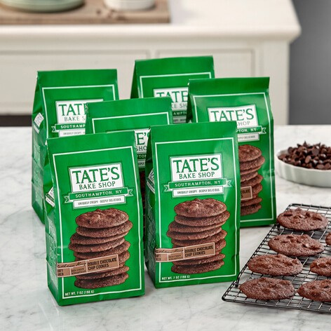 6 PK Double Chocolate Chip Cookies Tate39s Bake Shop