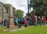 War memorial and Grade 2 listed K6 telephone kiosk