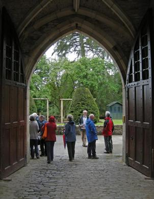 Stable court gateway. The doors are modern oak replacements for the beyond-repair originals