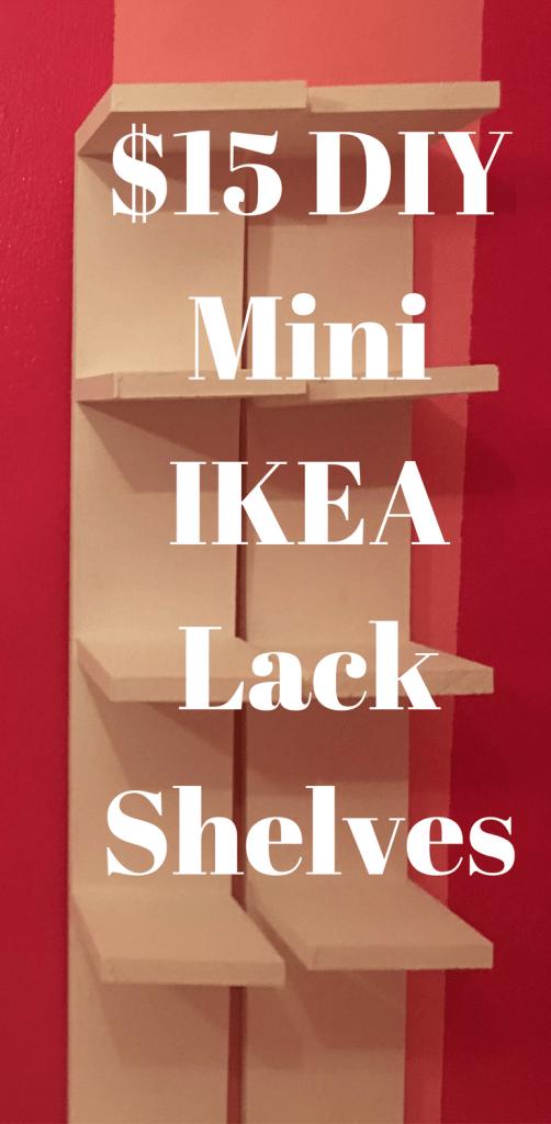 do it yourself mini ikea lack shelves project $15 under diy ikea hack lack