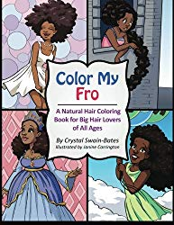 natural hair coloring book afrocentric womens kids gift idea