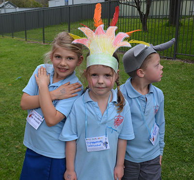 Kids dressed up as animals from the books