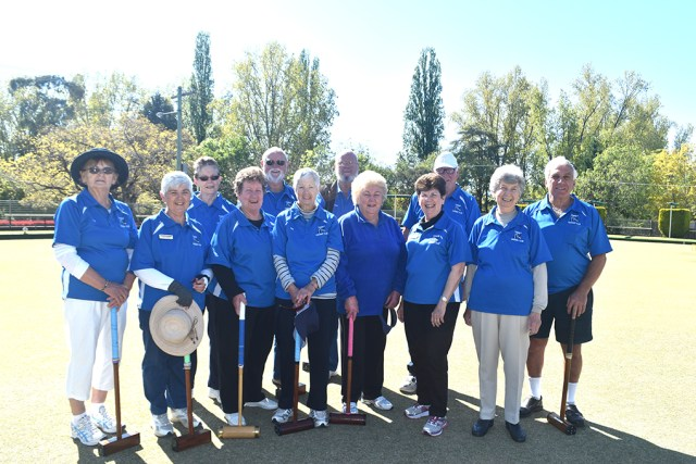 The Tumut croquet club meet every Tuesday from nine onwards.