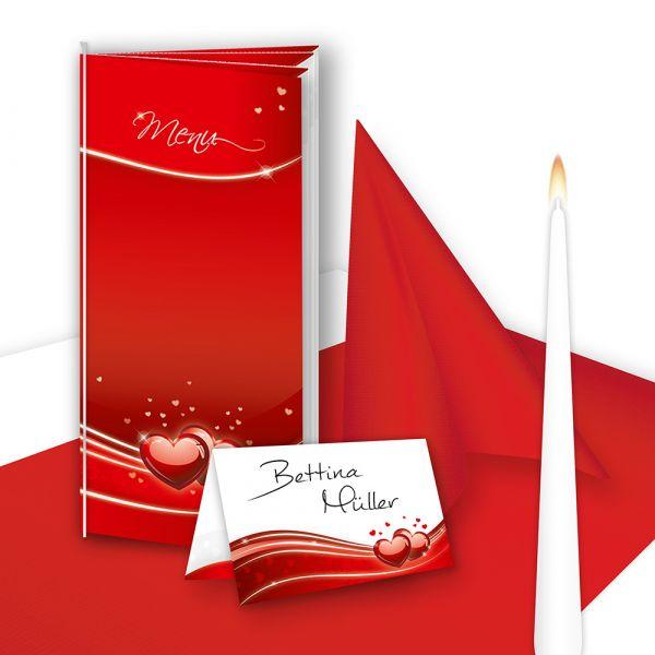 Tischdeko Hochzeit Set Rot 16 Gste Tischdekoration