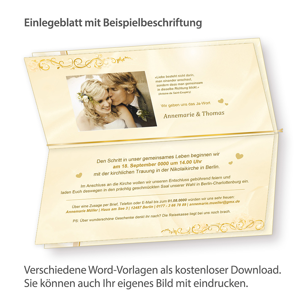 Blätter Für Einladung Perlmutt 40 Blatt Nur Einlegeblätter Zum Nachbestellen