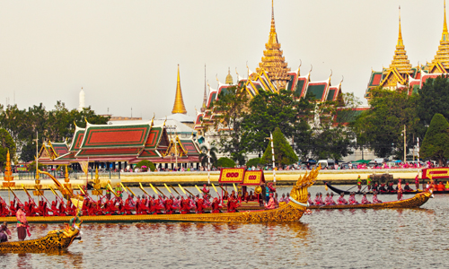 Thailand Culture and Festivals. The Royal Barge Procession 500x300