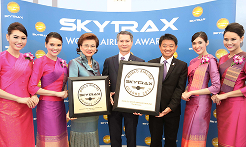 THAI wins two Skytrax awards 2016-500