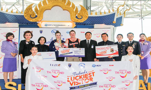 Thailand continues to see record breaking visitor numbers as 32 millionth for 2016 arrives
