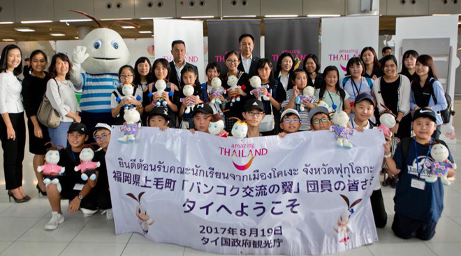 Japanese students visiting Thailand on educational and cultural exchange programme