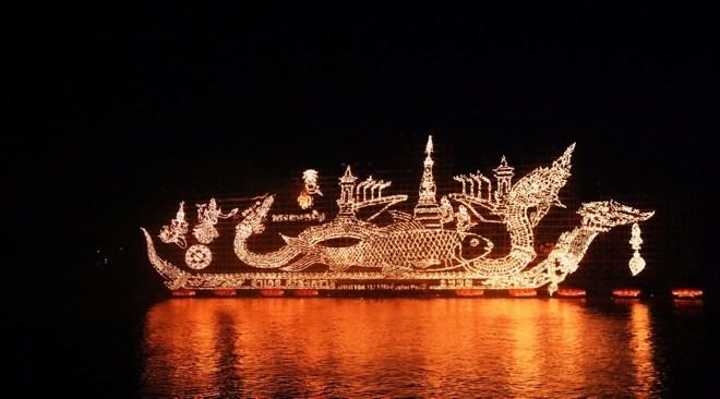 Thailand events calendar for end of Buddhist Lent or Ok Phansa