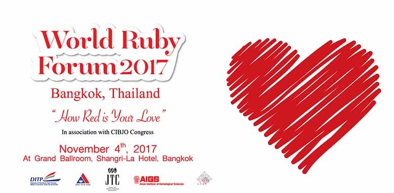 Thailand launches World Ruby Forum 2017 on 4 November – TAT