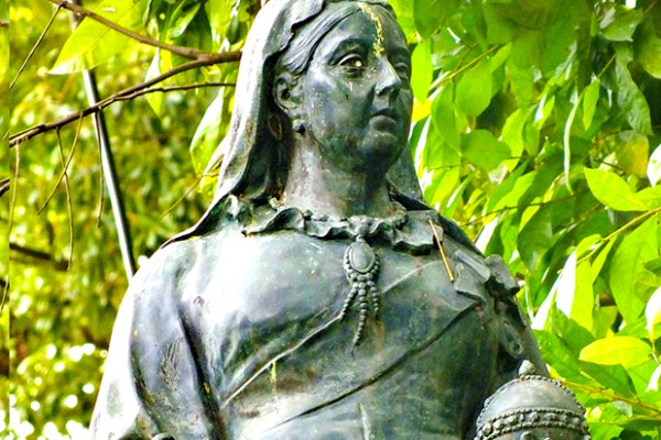 The statue of Queen Victoria in the foreign cemetery, Chiang Mai