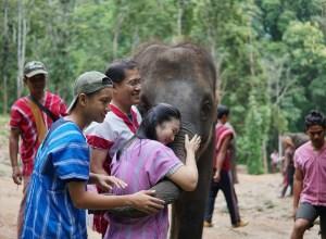 Ethical Elephant Minister Weerasak Kowsurat and family