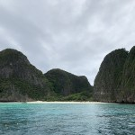 Maya Beach is closed but stunning views of the Bay can still be enjoyed