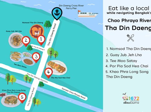 Eat like a local while navigating Bangkok's Chao Phraya River