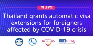 TAT update: Thailand grants automatic visa extensions for foreigners affected by COVID-19 crisis