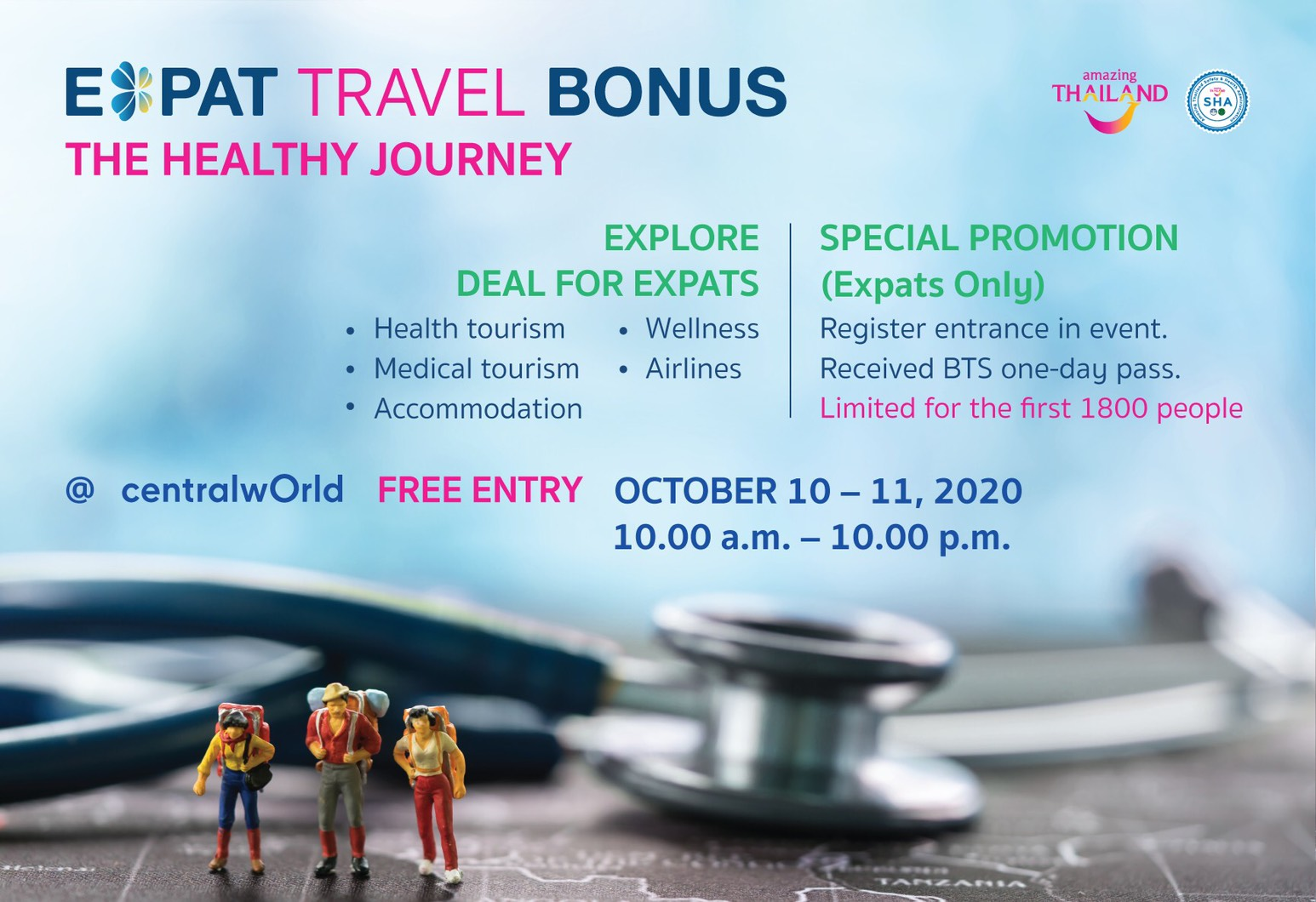 """, TAT launches """"Expat Travel Bonus, The Healthy Journey"""" promotional campaign, For Immediate Release 