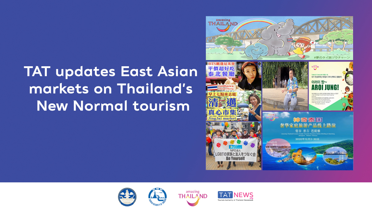TAT updates East Asian markets on Thailand's New Normal tourism
