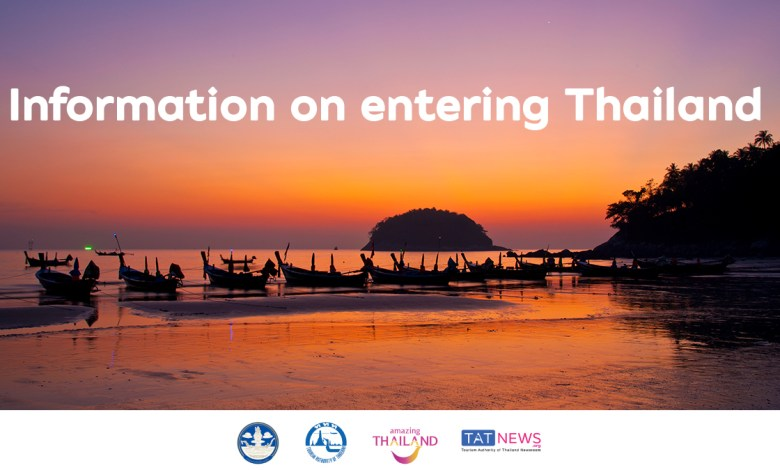 Information on entering Thailand July 2021