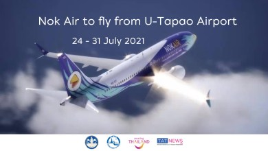 Nok Air operating flights from U-Tapao Airport to 6 Thai cities