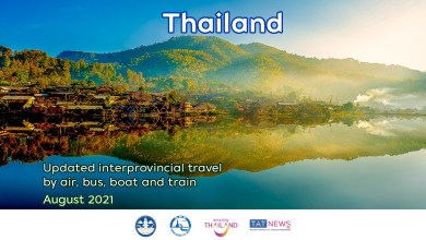 Updates on domestic travel in Thailand in August 2021