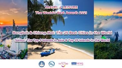 'World's Best Awards 2021' names Bangkok and Chiang Mai among the globe's top 10 destinations