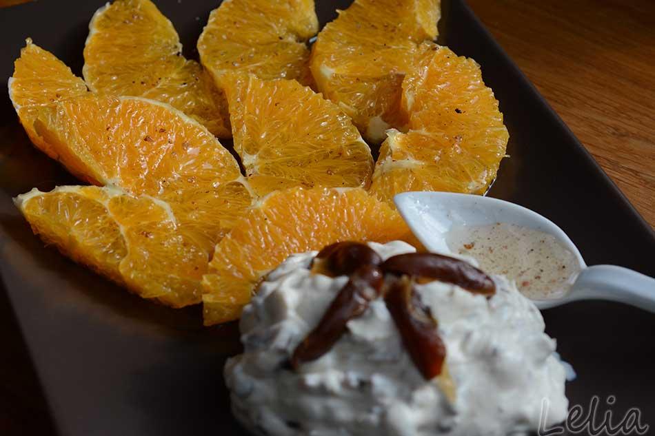 Orangen in Kardamomsirup