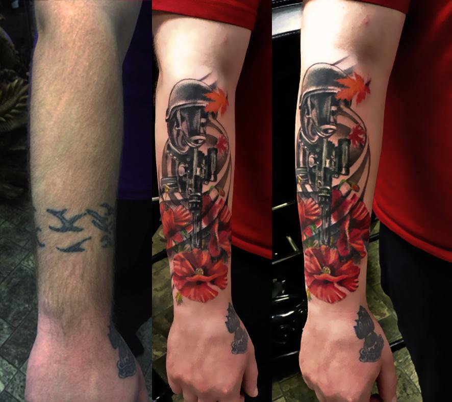 Tatouages301 tatouage homme bras fleur - Tatouage fleur avant bras ...