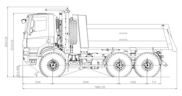 6x6 ONE-WAY TIPPER :: Tatratrucks.com
