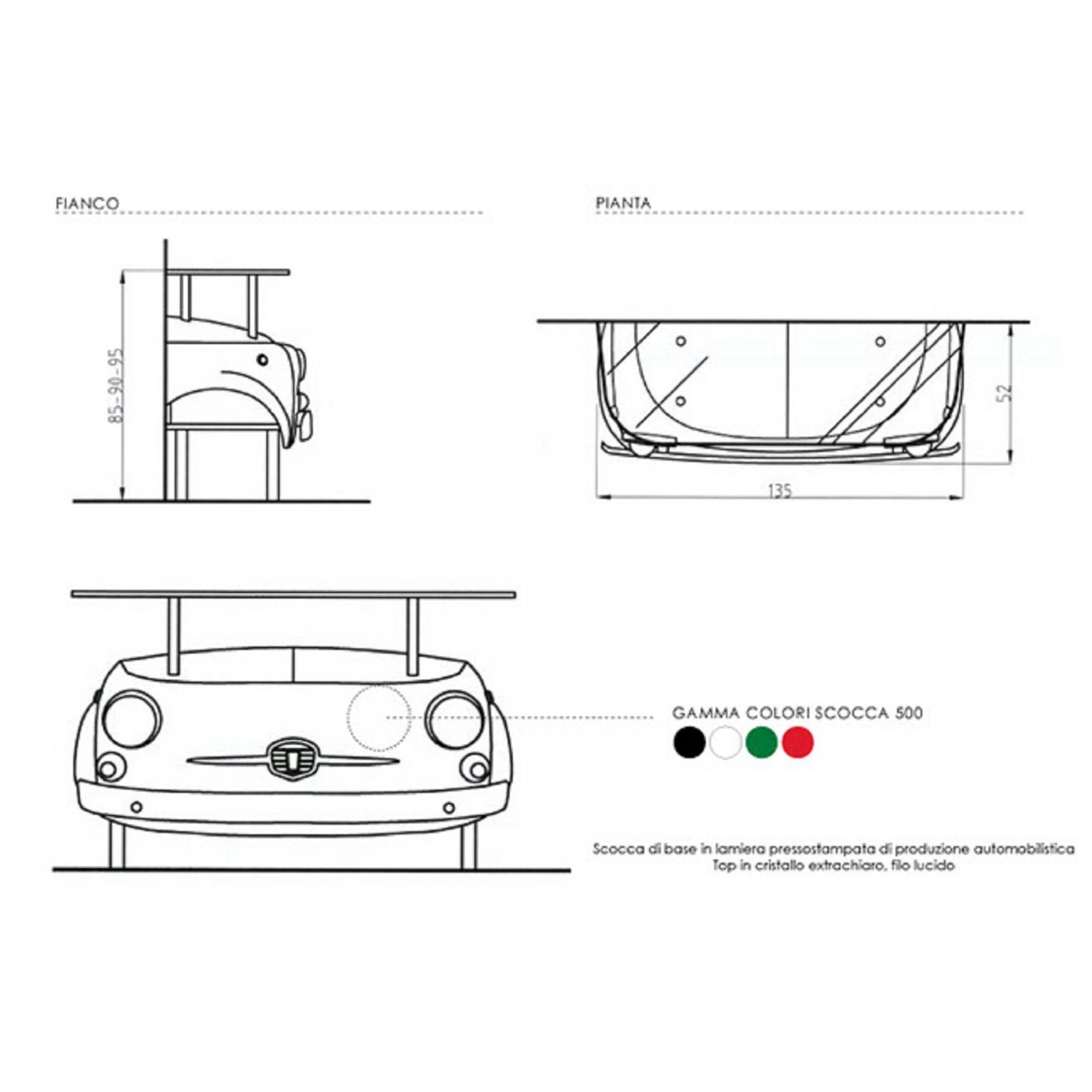 Meritalia Fiat 500 Cin Cin Consolle