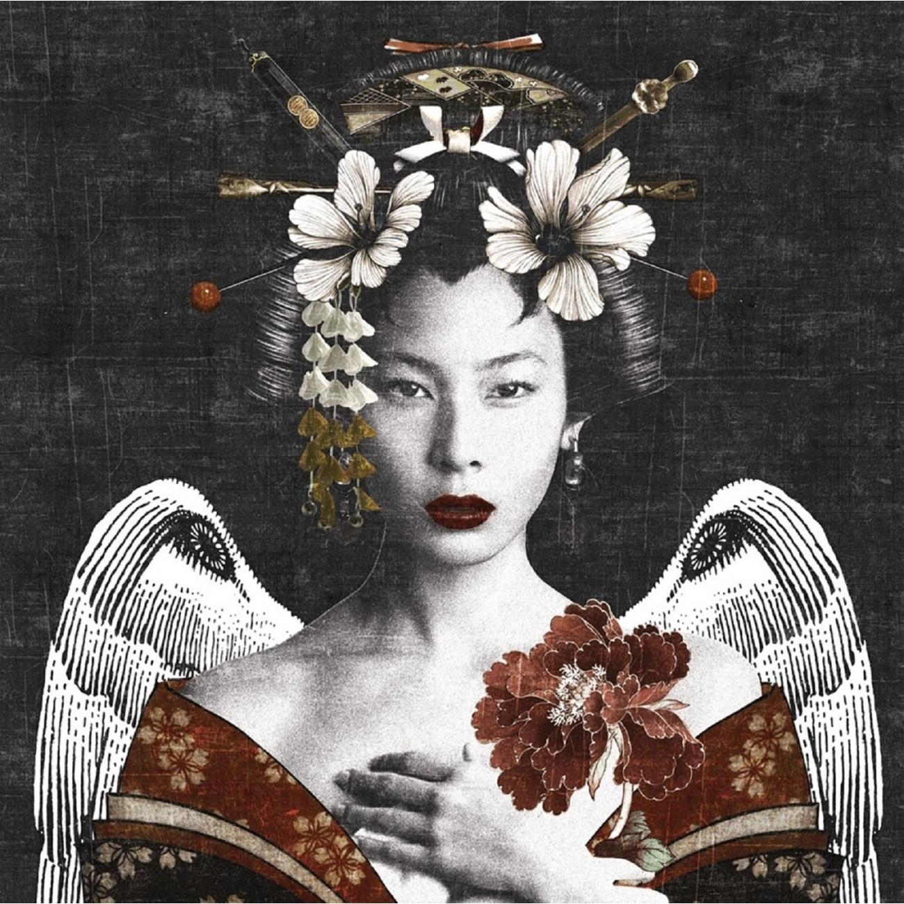 Girl And Marble Wallpaper London Art Geisha Wallpaper Tattahome