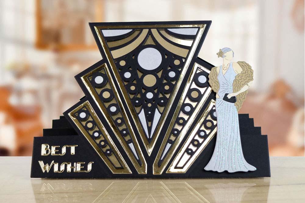 Art Deco Stepper Card ETL532  Tattered Lace