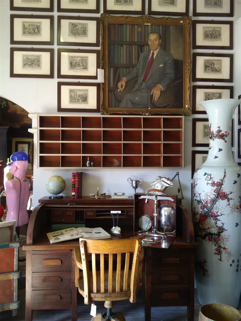 Tavolo scrivania legno in patina, wood table. Scrivanie Scrivania Roll Top Inglese