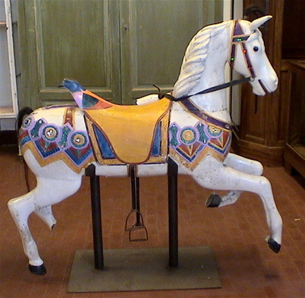 Oggetti Unici Cavallo da giostra in legno