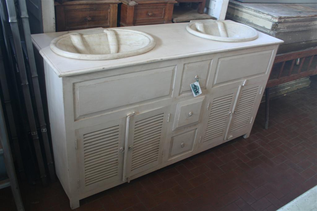 Arredi da bagno Mobile con doppio lavello provenzale