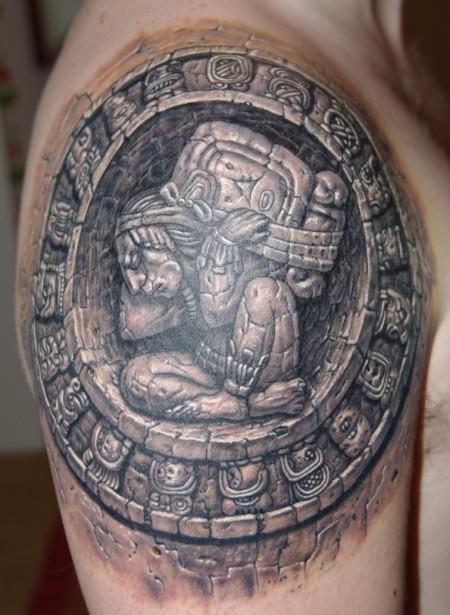 sbreit MayaKalender in Stein  Tattoos von Tattoo