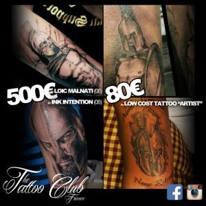 prix tatouage en france