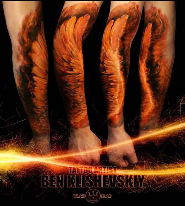 Eindrucksvolle Flgel Tattoos  Tattoo Spirit