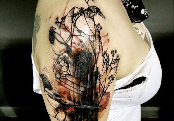 Abstract Half Sleeve Tattoo