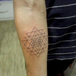 Sacred geometry Sri yantra tattoo bangalore