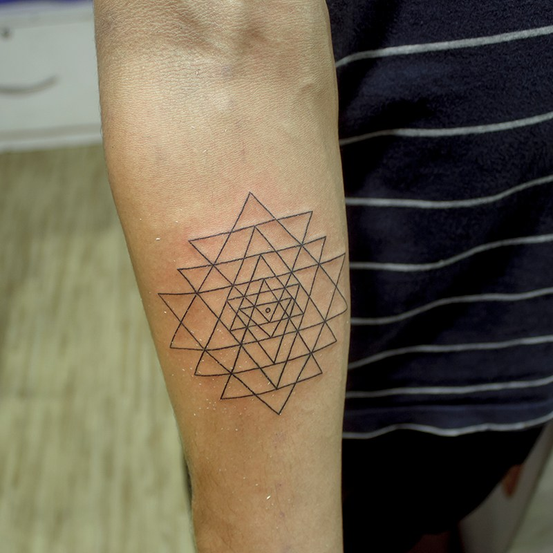 What Are The Tattoo Prices In Bangalore: Sri-yantra Hindu Sacred Geometry