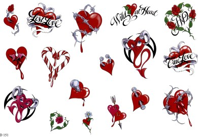 Girls Heart Tattoo Designs