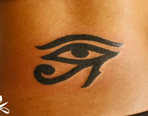 Egyptian Eye Lower Back Tattoo Pictures Photos Pics Images