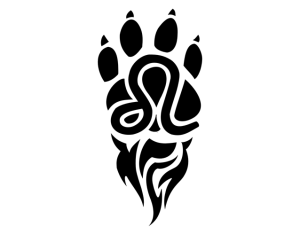 Paw Print Tattoo Designs For Girls