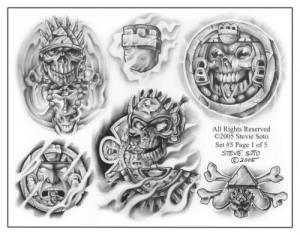 Mexican Style Tattoo Designs