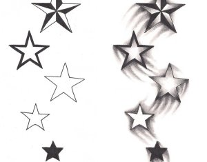 Falling Star Tattoos Designs