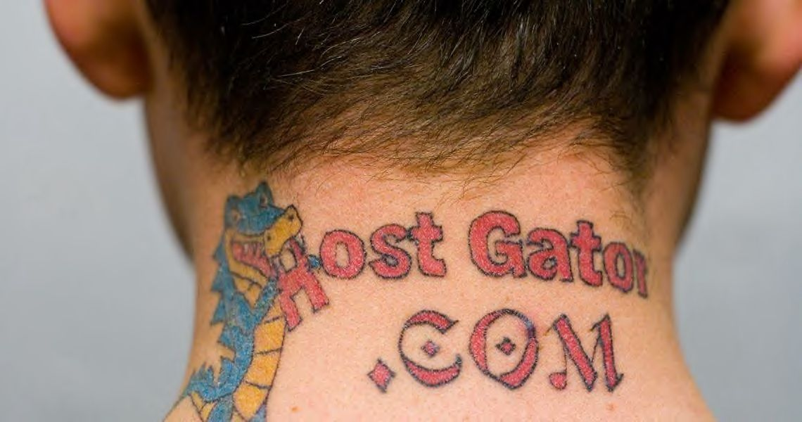 I found that a web hosting company a while back, tattoo advertised on the