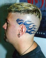 fire tattoo side head