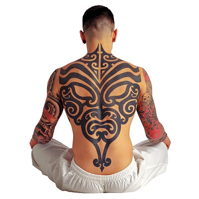 The large arm tattoo is probably my favorite tribal design that