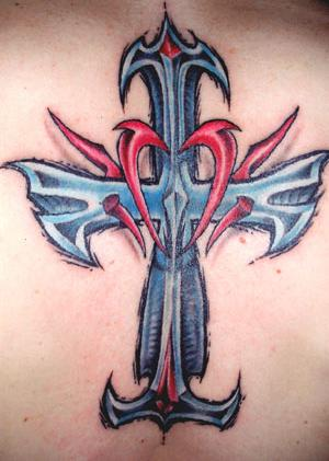 There are just three different kinds of Cross Tattoo designs and there are